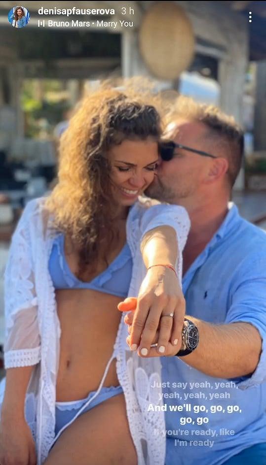 Denisa Pfauserová se v sobotu vdává.