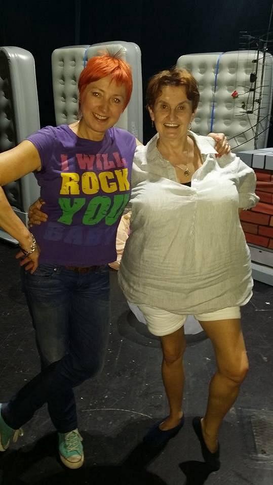Holubová s choreografkou Janou Hanušovou