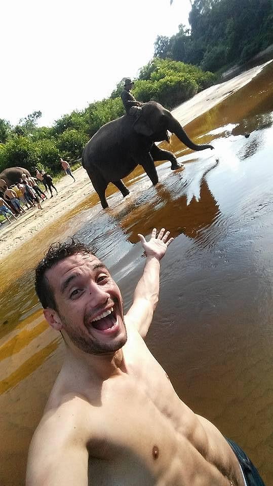 Jan Vurm si splnil dětský sen a setkal se se slony.