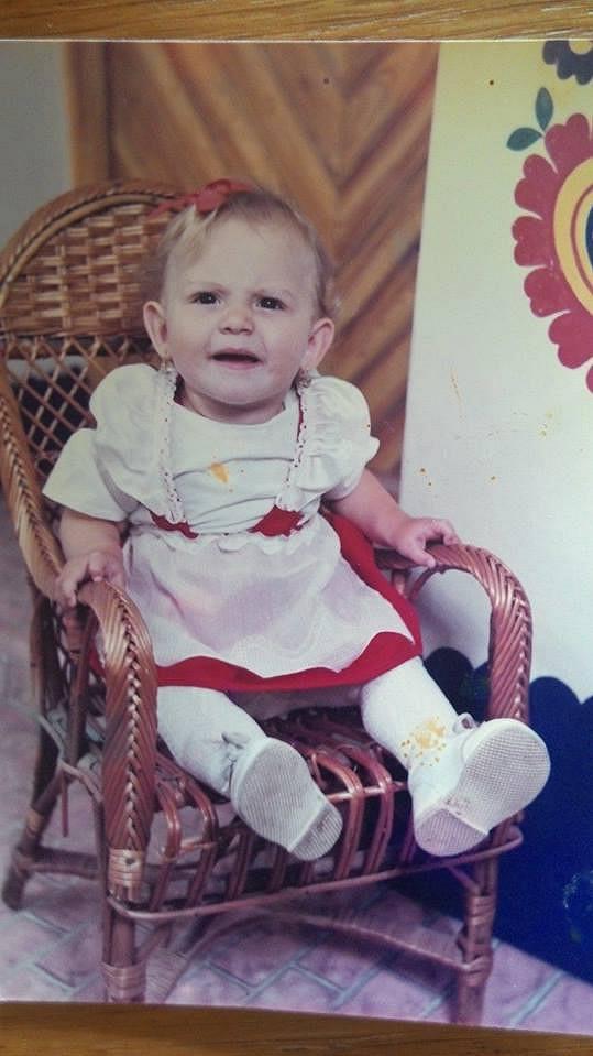 Eliška Bučková jako dvouletá holčička