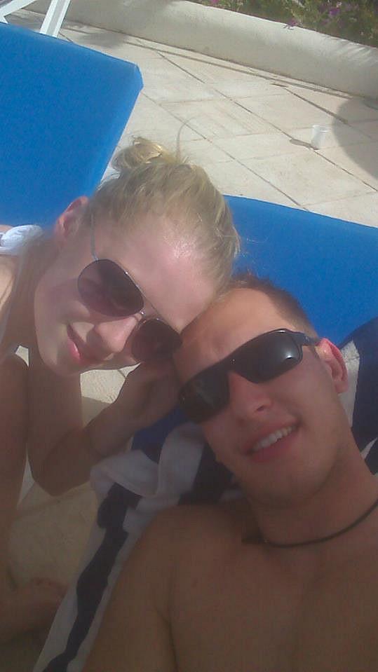 Na pláži s přítelem Honzou