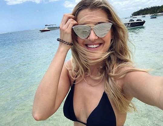 Jitka Nováčková si vychutnává dovolenkové radovánky na Mauriciu.