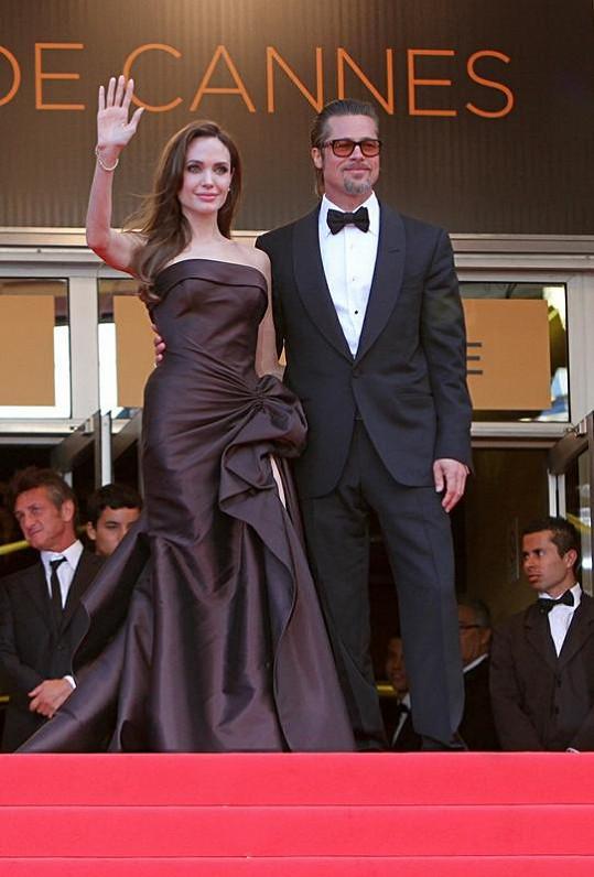 Dokonalý pár: Angelina Jolie a Brad Pitt.