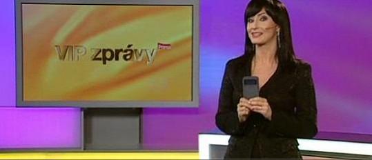 Jako moderátorka VIP zpráv (později Top Staru)