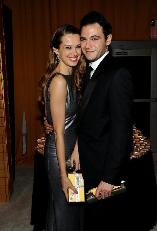 Petra Němcová se svým snoubencem Jamie Belmanem.