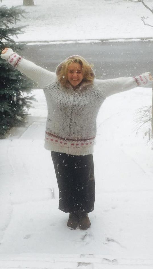 Lucie Vondráčková přivítala v Kanadě zimu.