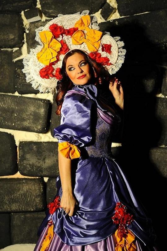 Marta na zkoušce v divadle GoJa Music Hall.