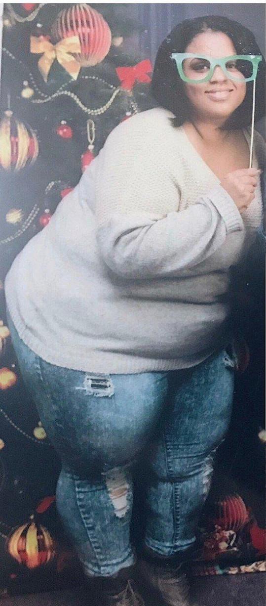 Rochelle Monique Murrell v době, kdy vážila o metrák víc.