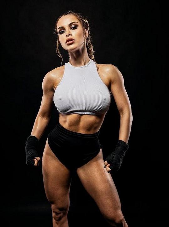 Martina Marková předvedla svou vyrýsovanou figuru.