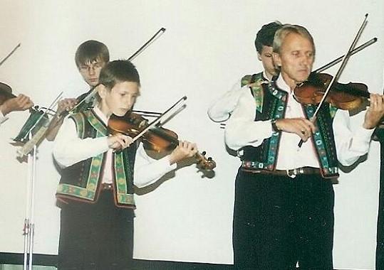 Martin jako malý houslista