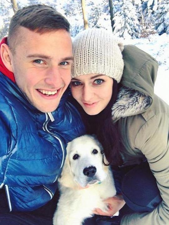 Tereza se snoubencem Pavlem Kadeřábkem