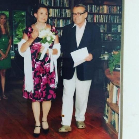 Sňatek herečce uspořádal velký kamarád Miloš Forman.