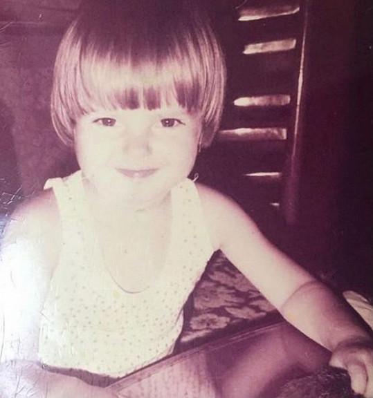 Katarína Knechtová jako malá holčička