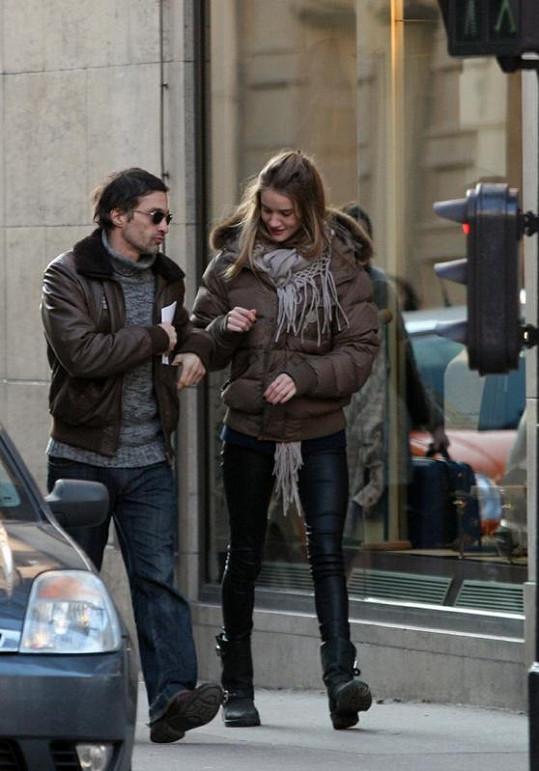 Pětačtyřicetiletý Martinez s Rosie v lednu 2010 v Paříži.