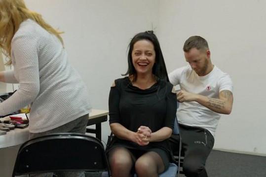 Lucie Bílá v šatně před koncertem