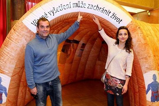 Herce přišla podpořit i kolegyně z Cest domů Petra Horváthová.