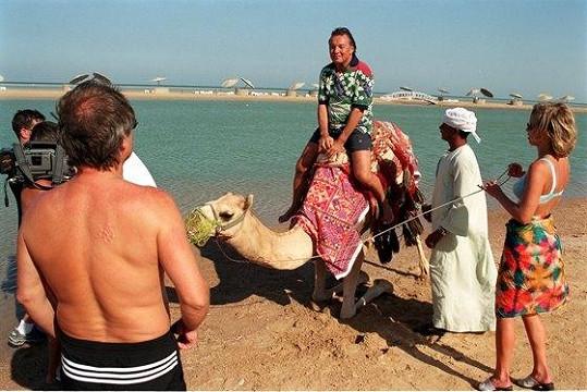 Karel na dovolené v Egyptě.