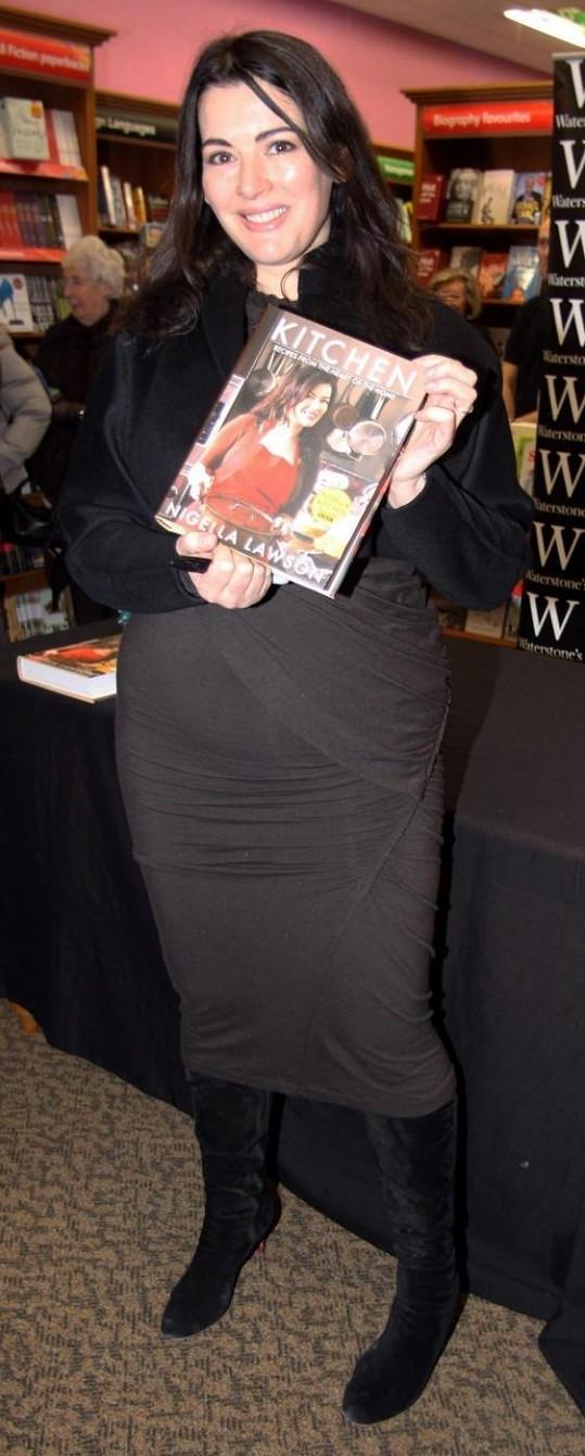 Nigella Lawson koncem roku 2010 představila svou novou knihu.