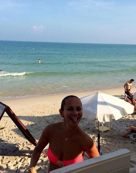 Monika Absolonová si užívá na dovolené v Thajsku.