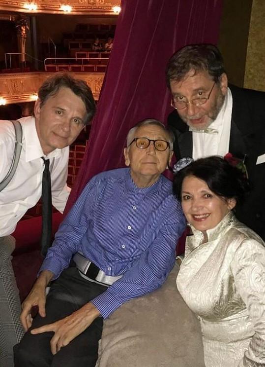 S herci Janem Šťastným, Tomášem Töpferem a Evou Režnarovou