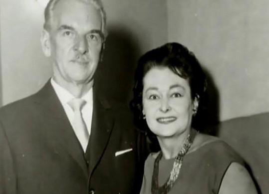 Hana Vítová s R.A. Dvorským v šedesátých letech.