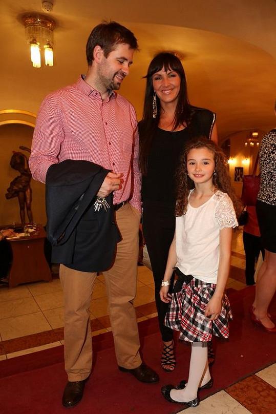 Andrea s manželem a dcerou Aničkou.