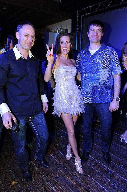 Andrea s manželem Danielem Volopichem a Igorem Rattajem.