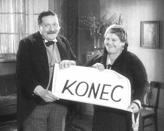 Antonie Nedošinská a Theodor Pištěk tvořili ve filmech často manželský pár.