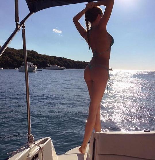 Andrea Verešová se pochlubila svým krásným zadečkem.