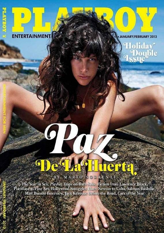 Paz de la Huerta pro Playboy.