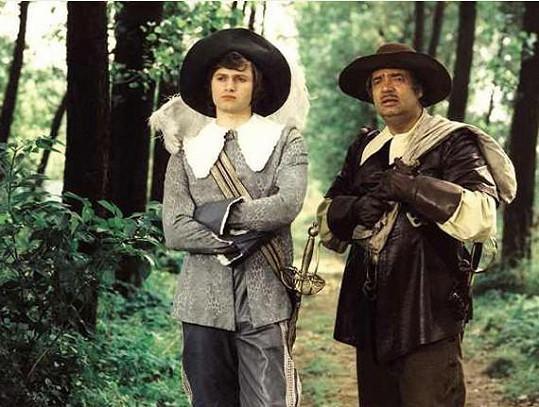 Jan Hrušínský a Vladimír Menšík. Hrušínský prožil během natáčení nepříjemný karambol.