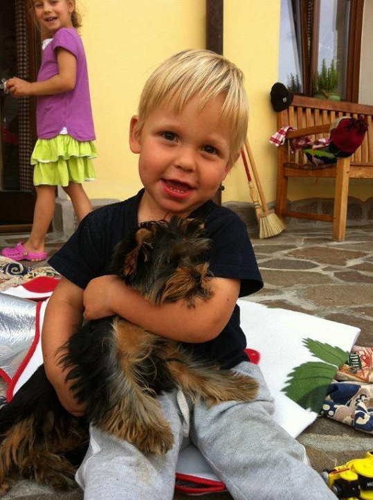 Matěj Mareš miluje zvířátka.