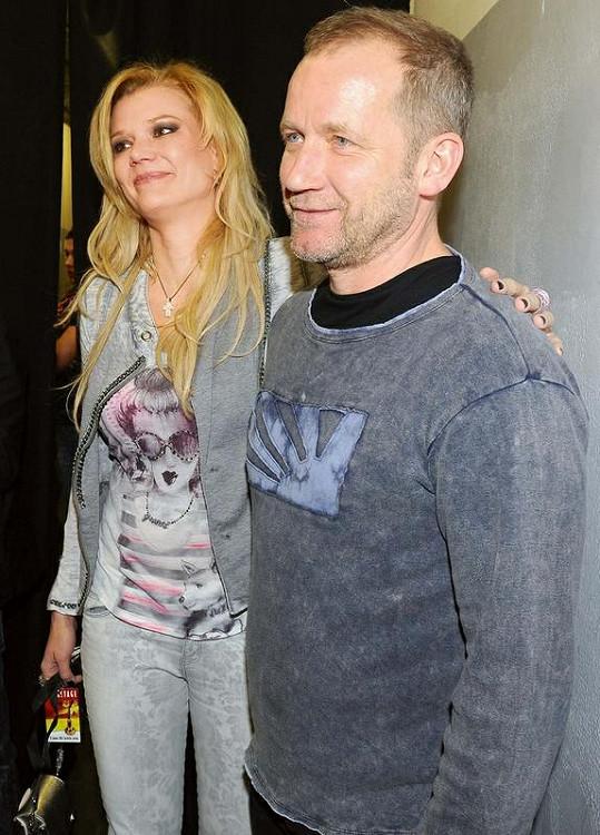 David Koller s manželkou Sylvou na předávání cen Anděl.