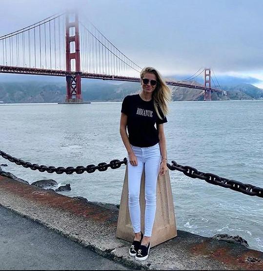 Veronika navštívila i Kalifornii.