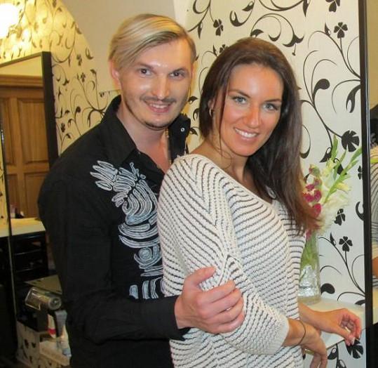Lucie se svým kadeřníkem Martinem