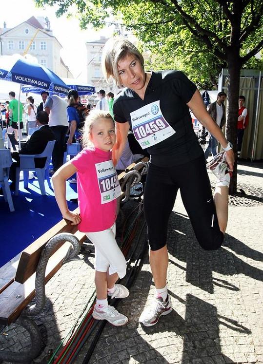 Kateřina Neumannová s dcerou Lucií.