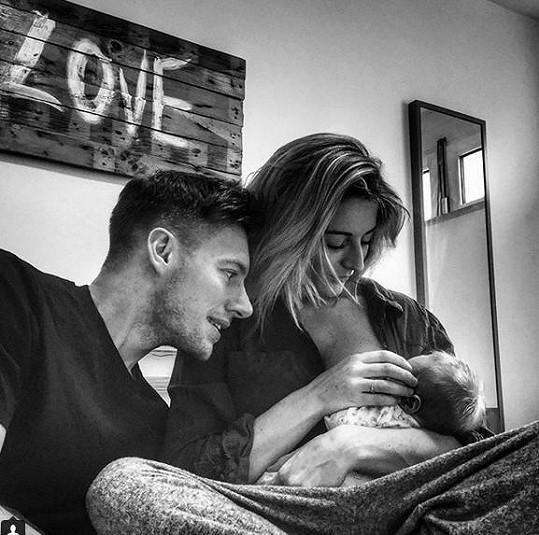Thomas s manželkou a synem