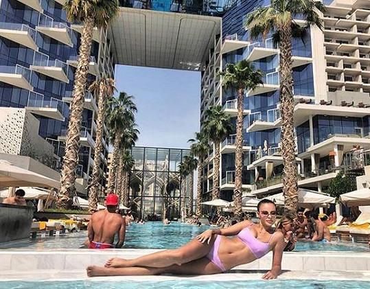 Monika Bagárová si užívá dovolenou v Dubaji.