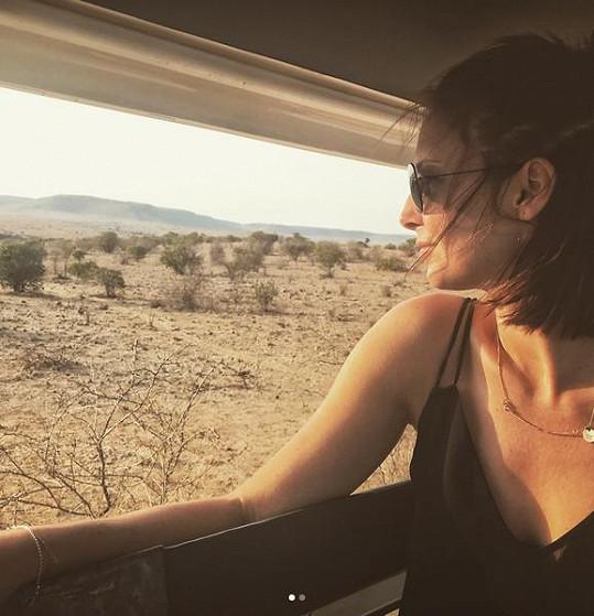 Veronika Arichteva na safari