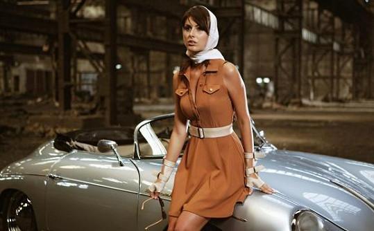 Sandra Marková v jednom ze svých modelů