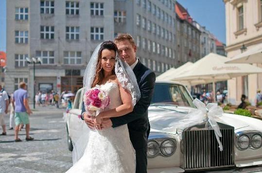 Adéla Blažková s manželem Romanem