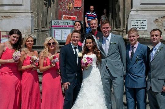 Adéla Blažková se vdala po jedenáctileté známosti.
