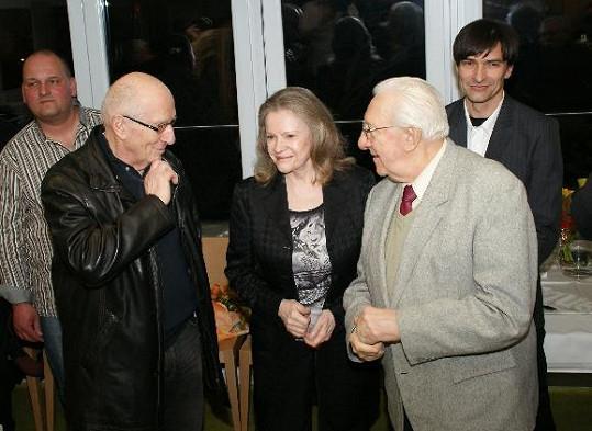 Na výstavu zavítali i Karel Štědrý a Gustav Oplustil.