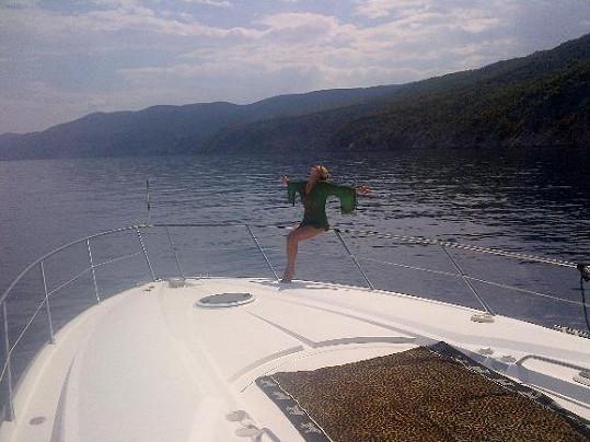 Plavba po chorvatských ostrovech byla pro Míšu dokonalý relax.