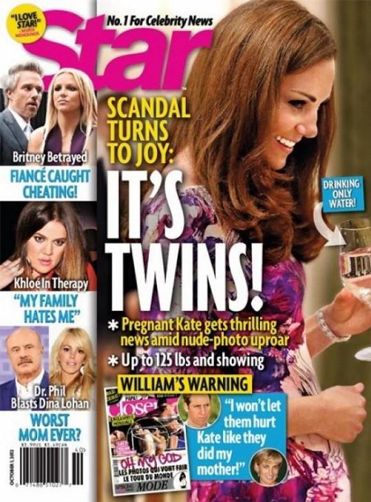 Americký magazín Star přišel dokonce s tvrzením, že Kate čeká dvojčata.