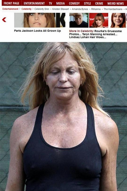 Goldie Hawn odcházela z posilovny.