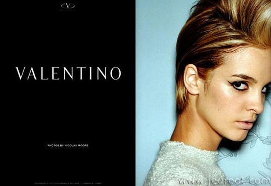 Slovenská kráska pracovala například pro Valentina.