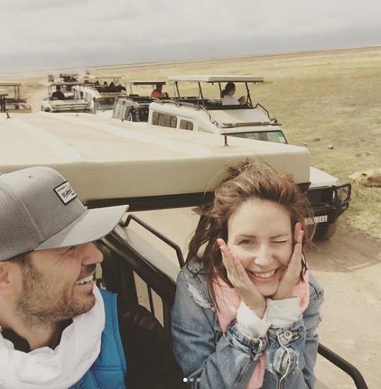 Veronika Arichteva s manželem Biserem cestovala po Africe.