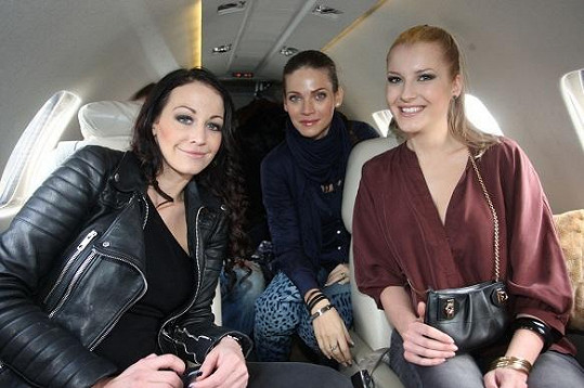 Andrea Verešová v soukromém letadle.