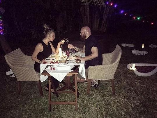 Valentýnská večeře s manželem Karlem